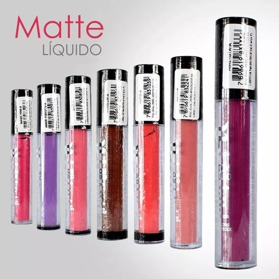 Batom Líquido Matte Fashion 12 Unidades Atacado + Brinde