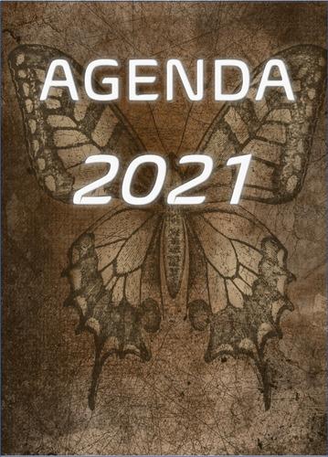 Imagem 1 de 5 de Agenda 2021  Vintage Borboleta