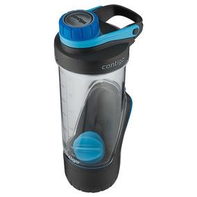 Botella Mezcladora Con Contenedor Plastica Shake 710 Ml Azul
