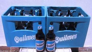 Cajones De Cerveza Quilmes De Litro Con Botellas Vacías