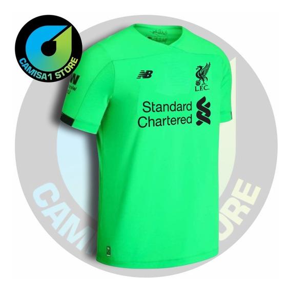 Camisa Goleiro Liverpool Verde 2019/20 Sem Personalização