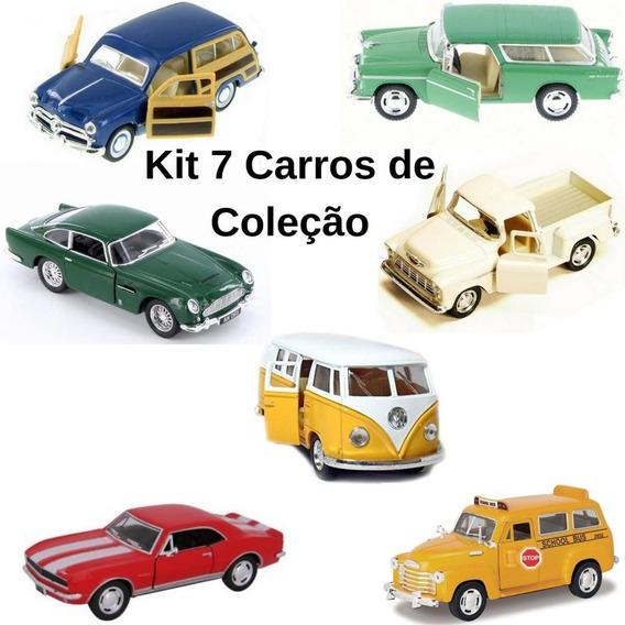 Miniatura Colecão Carrinhos Varios Modelos Kit C/7 Unidades