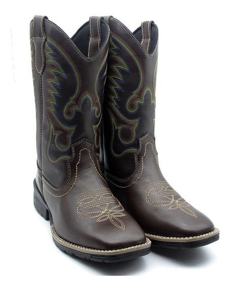 Bota Texana Masculina Country Asa Couro Oferta