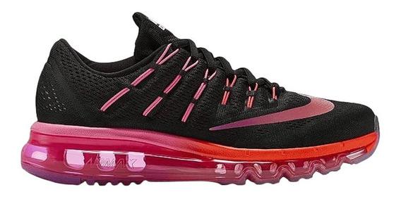 Tênis Nike Air Max Preto Rosa 806772 006 Original