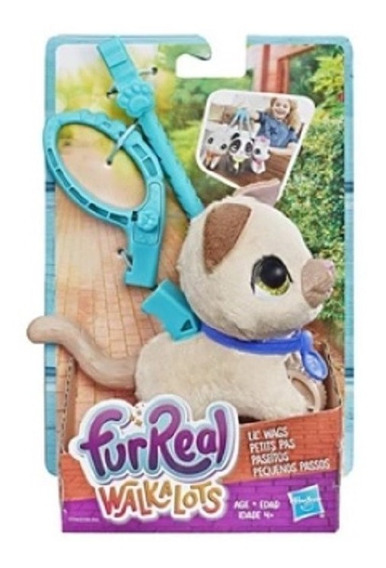 Cachorro Dog Creme Fur Real Walkalots Pelúcia Hasbro Criança