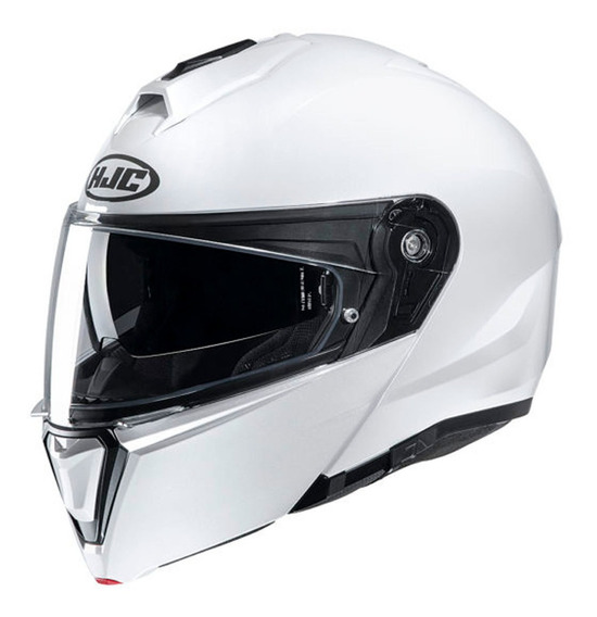 Casco Moto Hjc Rebatible I90 Sólido Pearl White