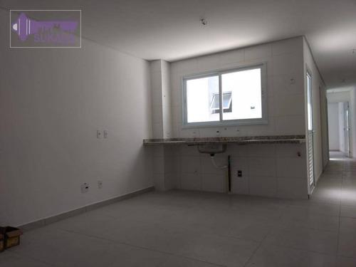 Cobertura Com 2 Dormitórios À Venda, 58 M² Por R$ 401.520,00 - Vila Pires - Santo André/sp - Co0408