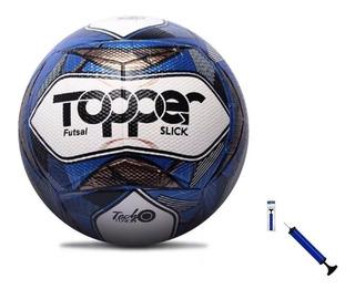 Bola De Futebol Oficial Futsal Topper Slick Ii + Nota Fiscal + Bomba Para Encher De Brinde - A Mais Barata Do Ml.