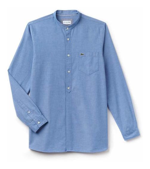 Camisa Lacoste De Algodón Cambray Slim Fit Ch4972