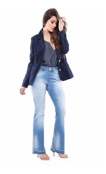Calça Jeans Mid Rise Flare Denuncia - Feminina