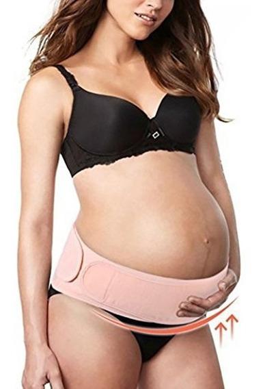 Faja De Embarazo Ajustable Con Soporte Lumbar Rosa Unitalla