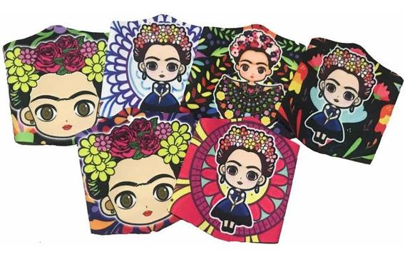 Cubrebocas Frida Kahlo Tapa Bocas Lycra Lavable 1 Pz