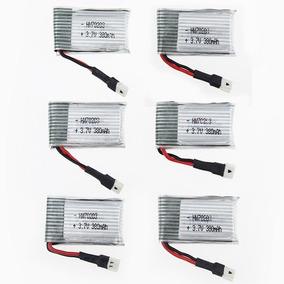 6xbateria Lipo 3.7v 380mha Fq777 Fq17w Hubsan H107 Syma X11c