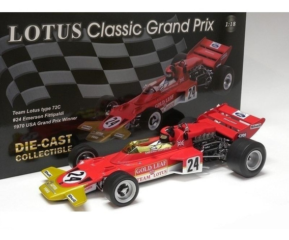 Miniatura F1 Lotus 72c Emerson Fittipaldi Winner 1970 1:18