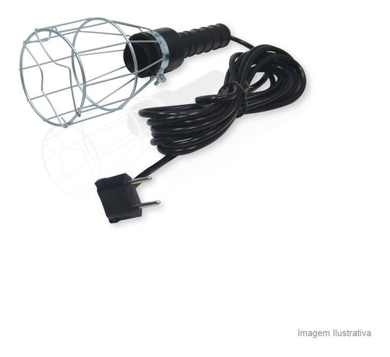 Cordão De Iluminação Com Plug 100w Modelo 468 Bivolt Forceline Forceline