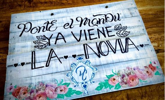 Letreros Vintage Para Boda, Xv Años, Pajes, Fiestas.
