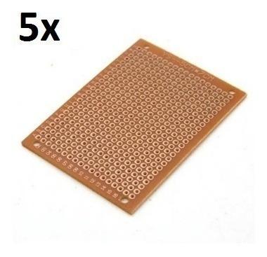 05 Unidades Pcb 5x7 Mini Protoboard Fenolite Ilhada -arduino