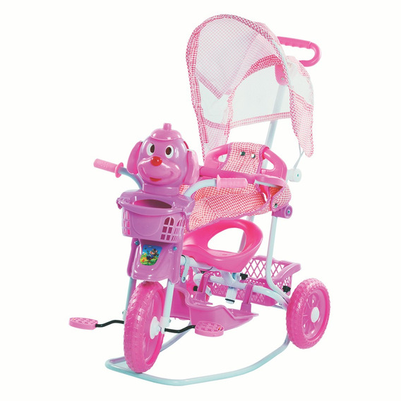 Triciclo Gangorra Com Capota Rosa Belfix - 910700