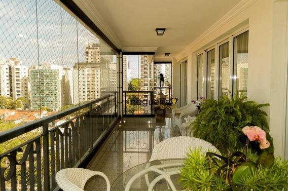 Lindo Apartamento De Alto Padrão No Campo Belo Com 4 Suítes !!! - Ap14642