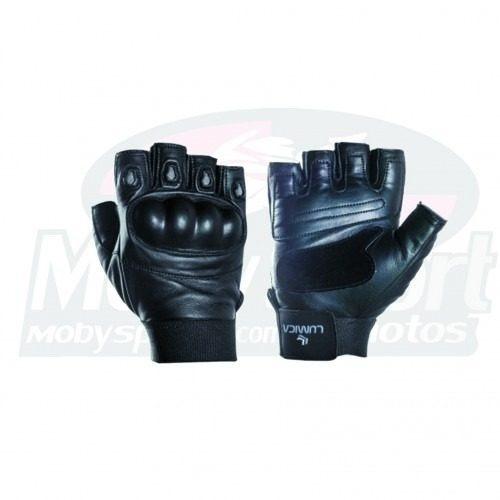 Luva Lumica L-510 1/2 Meio Dedo Couro Proteção Moto