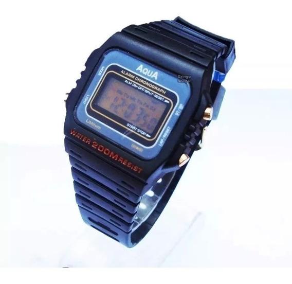 Kit 5 Relogio Unissex Digital Cronometro Alarme Preto Barato