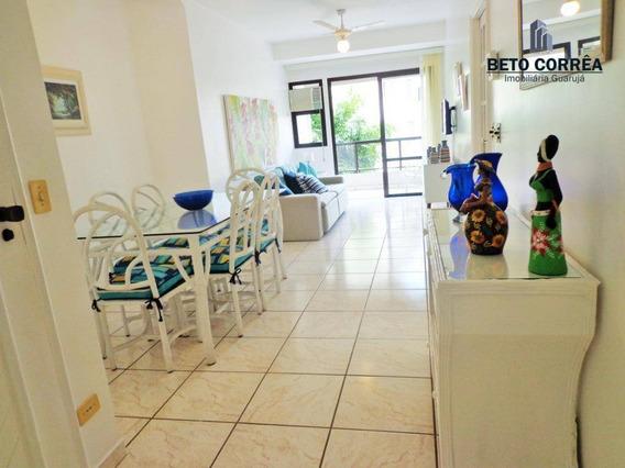Guarujá, Enseada Excelente Apartamento, 2 Amplos Dorms, Piscina, Churrasqueira, Próximo A Praia - Ap0337