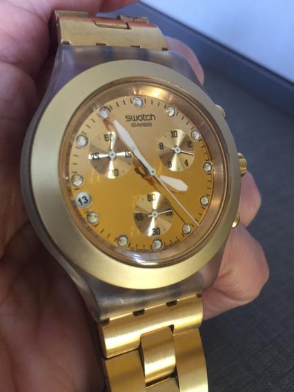 Relógio Swatch Full Blooded Dourado Original