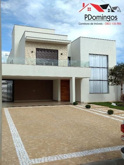 Sobrado À Venda Imponente No Condomínio Residencial Campos Do Conde Ii, Em Paulínia - Sp - Ca00488 - 4463522