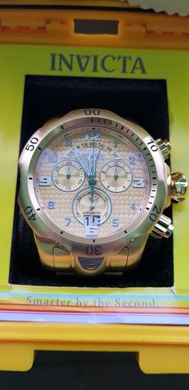 Relógio Invicta Dourado Em Perfeitas Condições Sem Risco
