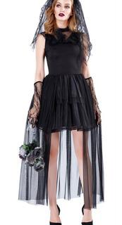 Dress Queen Black Queen Bruja Disfraz Vampiro Diablo Hallowe