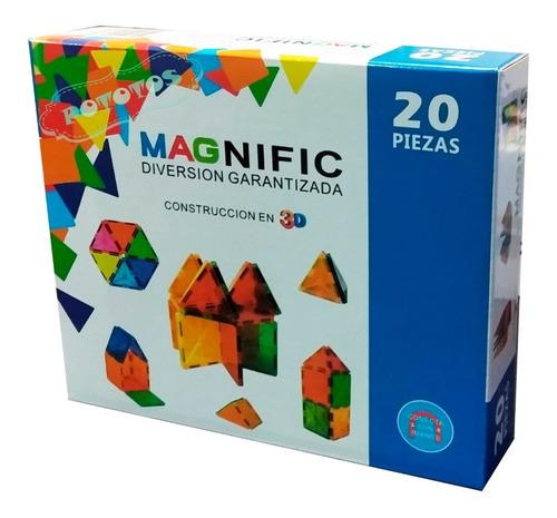 Bloques Magneticos Magnific X20piezas