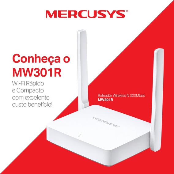 Roteador Tp Link 300mbps Mercusys Mw301r 2 Antenas Função Repetidor Wifi N Lan Wan Ppoe Ipv6 Rede Convidado