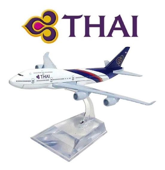 Aviao Comercial Metal Diecast Thai Aeronave