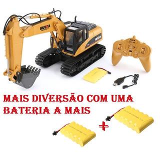 Escavadeira Huina 1550 Rc 15-canais - 1/14 + Bat. Reserva!!