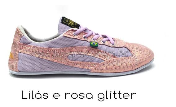 Taygra Slim Lilás E Rosa Glitter