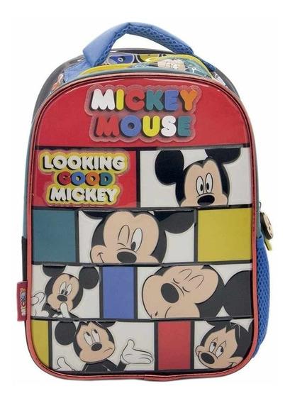 Mochila Mickey Original Cresko Disney 12 Pulg Rey Sancho