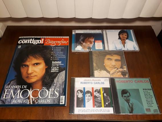 Combo Roberto Carlos 5 Cds + Revista Rara 45 Anos De Emoções