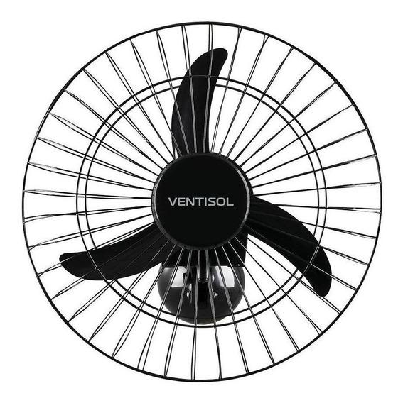 Ventilador de parede Ventisol Comercial preto, 50cm de diâmetro 127V/220V