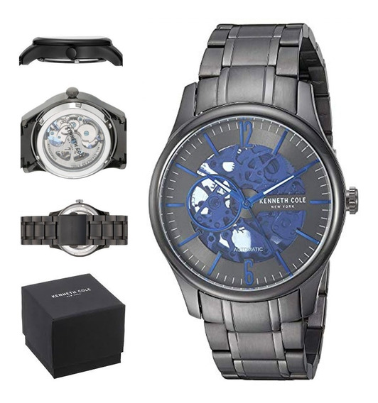 Reloj Kenneth Cole Hombre Automatico Kc50224005 Esqueleton