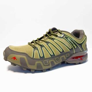 Zapatillas Montagne Makalu Verde Militar Hombre