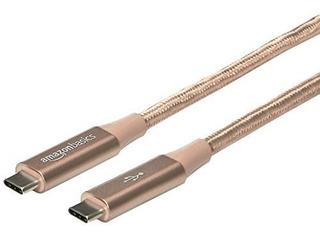Amazonbasics Cable De Nailon Trenzado Doble Usb Tipo C A Tip
