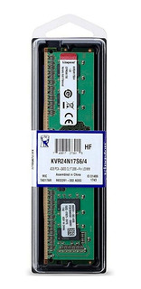 Memoria Ram 4gb 1x4gb Kingston Kvr24n17s6/4 Valueram
