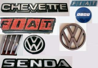 Lote De Varias Insignia Fiat Volkswagen Chevette