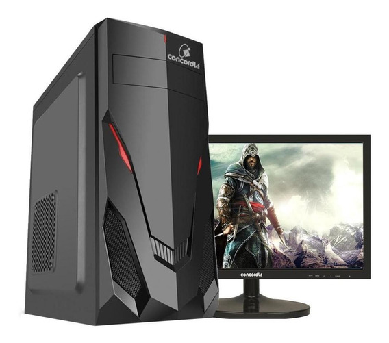 Pc Gamer One Monitor De 21.5 I5 8gb Hd 1tb Ssd120gb 1050ti