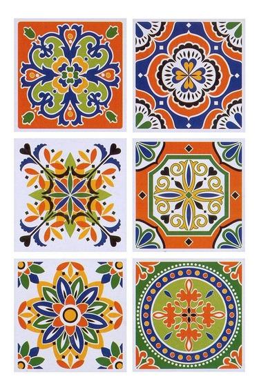 Vinilo Autoadhesivo Azulejo Decorativos 15x15cm X6 Unidades