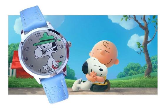 Relógio De Pulso Snoopy Menino Criança Infantil R568