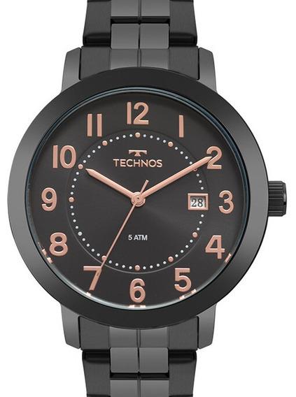 Relógio Technos Feminino Preto Original Barato
