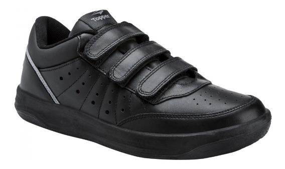 Zapatillas Topper X Forcer Cuero Tenis Negra