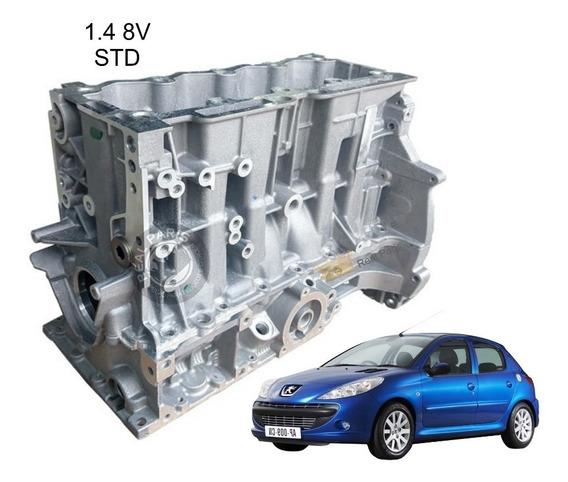 Bloco Motor Novo Peugeot 206 207 Citroen C3 1.4 8v Standart
