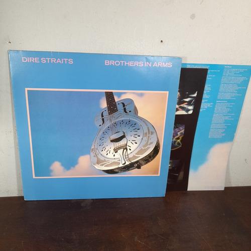 Imagem 1 de 6 de Vinil Lp Dire Straits Brothers In Arms Encarte Poster Ótimo